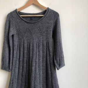 French Connection Cable Knit Dress Gray Size 4